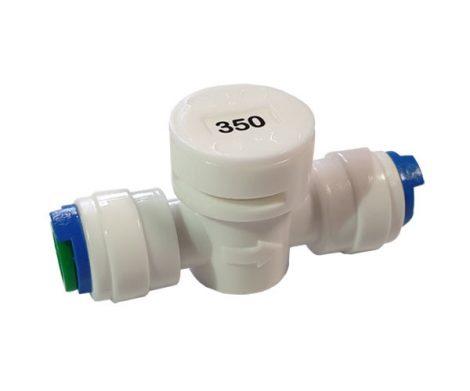 """350-es áramlás szabályozó kis méretben - 1/4"""" / 1/4"""" gyors csatlakozókkal"""