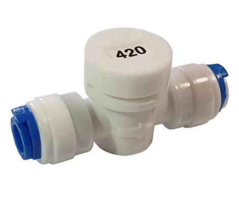 """420-as áramlás szabályozó kis méretben - 1/4"""" / 1/4"""" gyors csatlakozóval"""