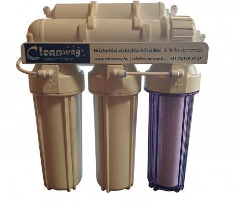 CleanWay 5 lépcsős víztisztító kombinált ásványi anyag-aktív szén utószűrővel